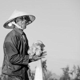 Fisherman by Graeme Heckels Hoi An Travel Photography, Vietnam