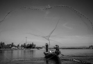 Launch Net Fishing by Graeme Heckels Hoi An Travel Photography, Vietnam