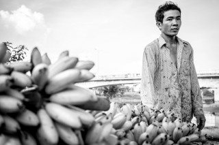 Banana Man by Graeme Heckels Saigon Street Photography, Vietnam