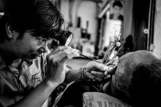 Ear Cleaning by Graeme Heckels Saigon Street Photography, Vietnam