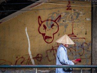 Devil Wacthing by Graeme Heckels Saigon Street Photography, Vietnam