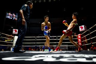 Muay Thai Boxing Knock Out in Thailand by Graeme Heckels Travel & Street Photography