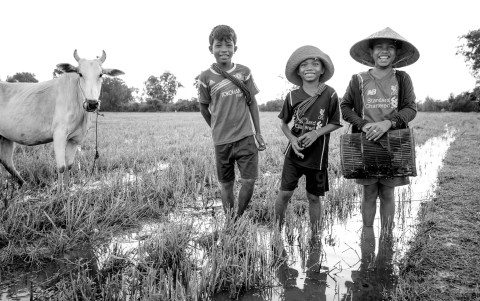 Farm boys in Siem Reap by Graeme Heckels Travel Photography Cambodia