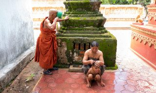 Water blessing in Siem Reap by Graeme Heckels Travel Photography Cambodia