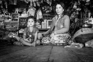 Mother & daughter keeping shop in Siem Reap by Graeme Heckels Travel Photography Cambodia