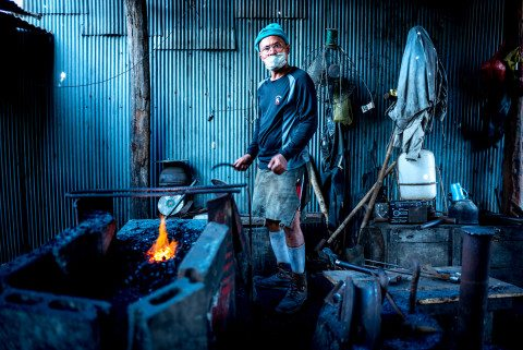 Portrait of Blacksmith in Siem Reap by Graeme Heckels Travel Photography Cambodia