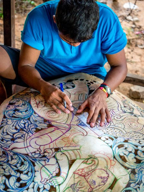 Portrait of local artist in Siem Reap by Graeme Heckels Travel Photography