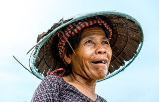 Portrait of Cambodian Farmer by Graeme Heckels Travel Photography