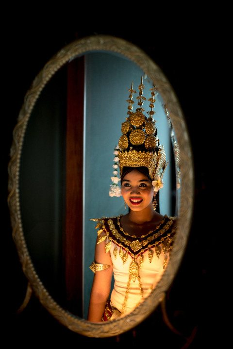 Portrait of Cambodian Apsara Dancer