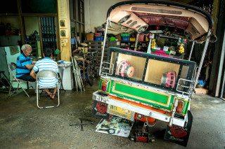 Broken Tuk Tuk in Bangkok by Graeme Heckels Travel & Street Photography