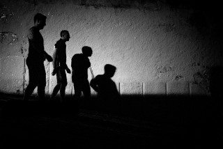 Shadow Walkers in Lisbon by Graeme Heckels Travel & Street Photography