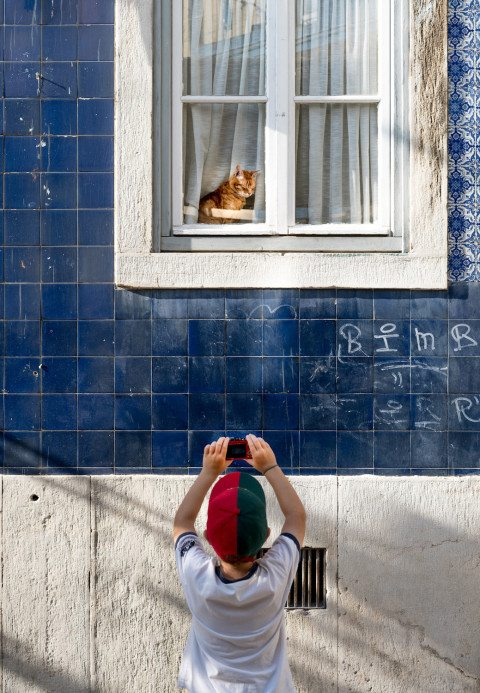 Little Photographer in Lisbon by Graeme Heckels Travel & Street Photography