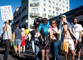 Love More Hate Less in Lisbon by Graeme Heckels Travel & Street Photography