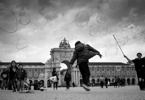 Bubbles in Lisbon by Graeme Heckels Travel & Street Photography