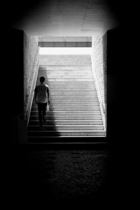 Alone In The Shadows by Graeme Heckels Travel & Street Photography, Lisbon