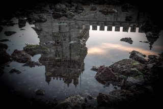 Belem Town reflection in Lisbon by Graeme Heckels Travel & Street Photography