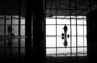 Black and White photo by Graeme Heckels Hanoi Street Photography Hanoi Airport