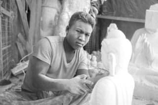 Portrait of a Marble Worker by Graeme Heckels_Mandalay Street and Travel Photography