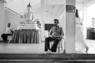 Graeme_Heckels_Sri Lanka Street Photography_Colombo_Temple_Black White