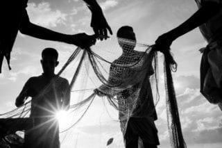Graeme_Heckels_Sri Lanka Street Photography_Tangalle_Fisherman_Silhouette